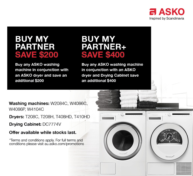 Buy My Partner + Save Up To $400 Laundry Package