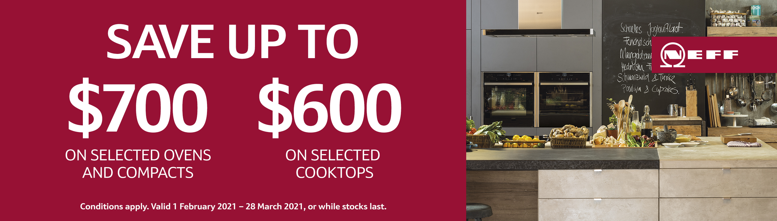 Save on Ovens, Compacts & Cooktops