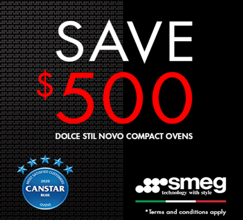 Save $500 on Smeg Dolce Stil Novo Compact Oven